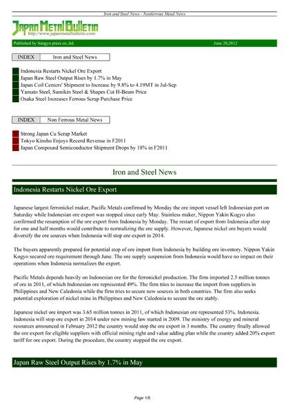 PDF Issue | Japan Metal Bulletin